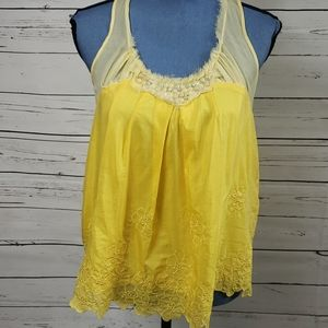 Yellow Vintage Inspired Daisy Tank Top